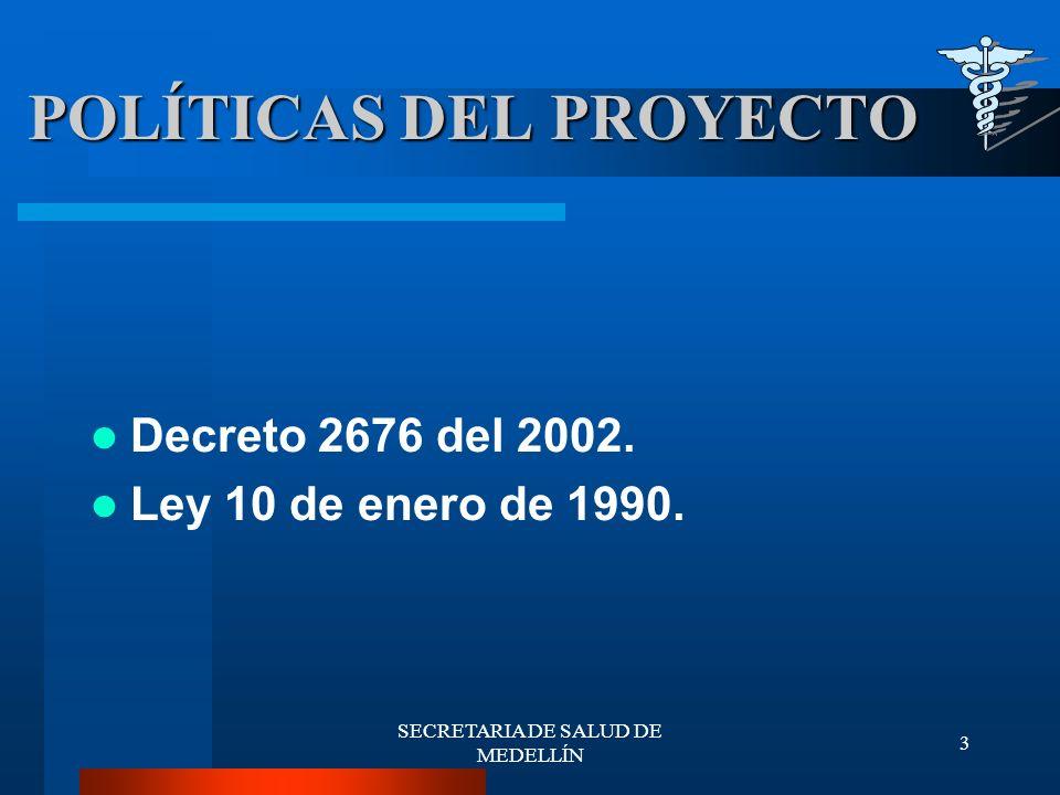 SECRETARIA DE SALUD DE MEDELLÍN 44 COOPERACIÓN INETERNACIONAL PROYECTOS COFINANCIADOS