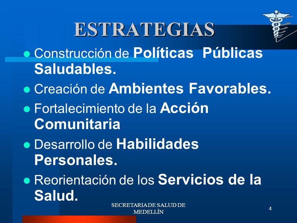 SECRETARIA DE SALUD DE MEDELLÍN 15 DESCRIPCIÓN DEL PROBLEMA DESCRIPCIÓN DEL PROBLEMA La Población de Medellín objeto del PAB es de 2.003.267 Habitantes.
