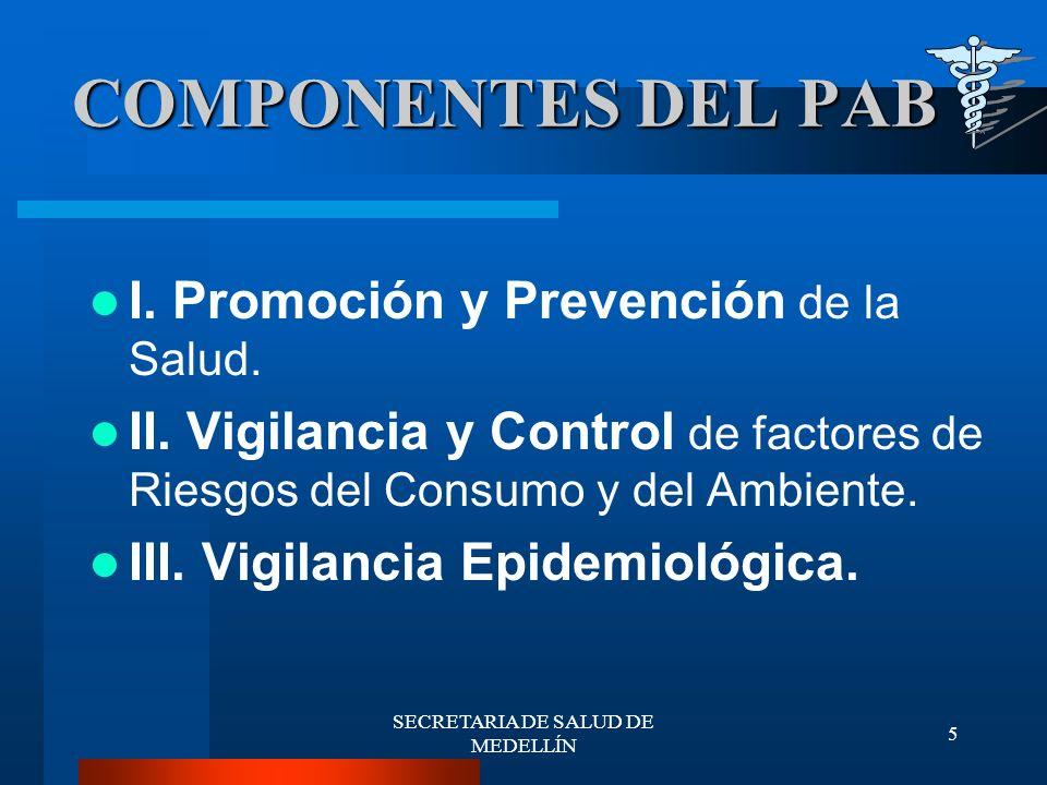 SECRETARIA DE SALUD DE MEDELLÍN 6 Promoción de la Salud y Prevención de la Enfermedad.