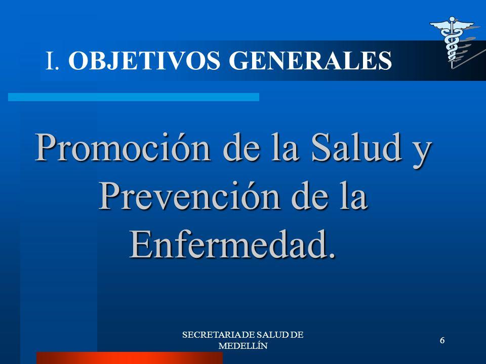 SECRETARIA DE SALUD DE MEDELLÍN 27 Vigilancia y Control de Factores de Riegos del Consumo y del Ambiente.
