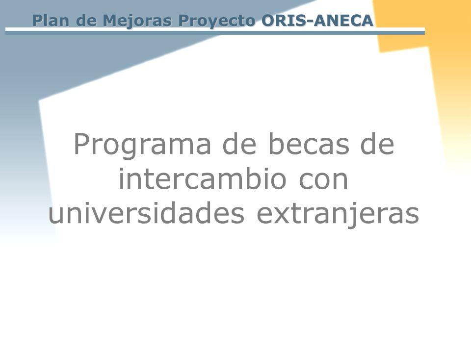 Programa de becas de intercambio con universidades extranjeras