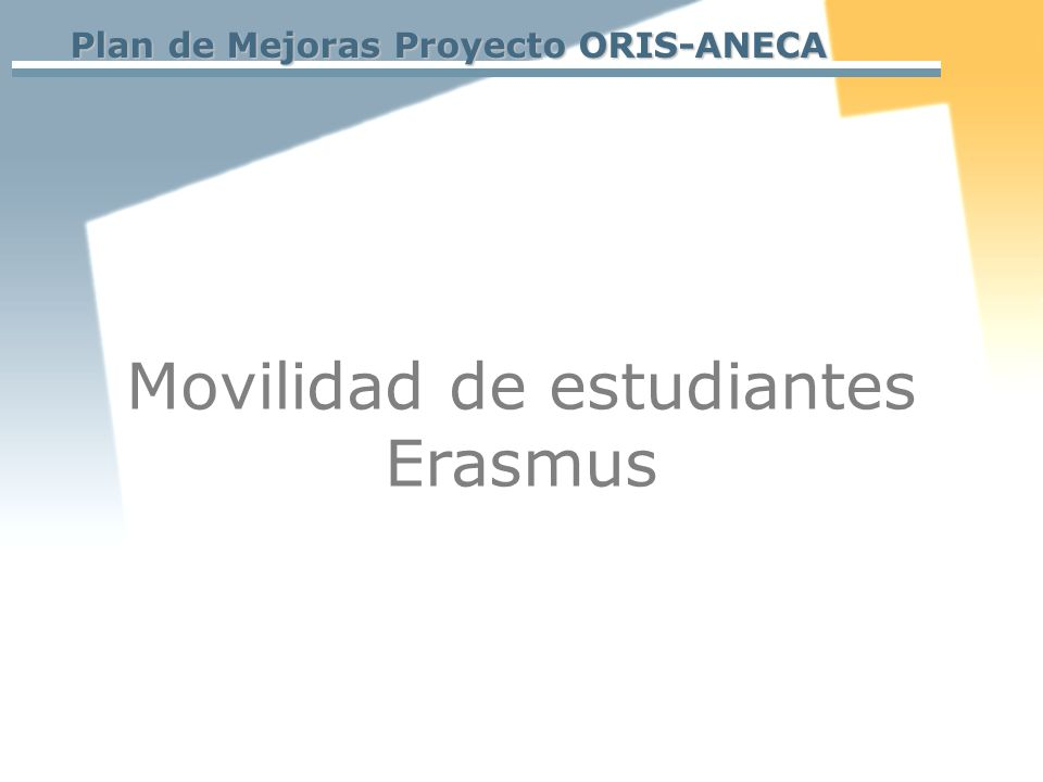 Movilidad de estudiantes Erasmus