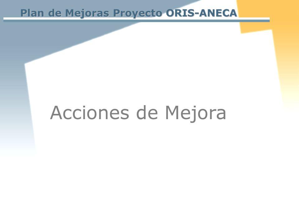 Plan de Mejoras Proyecto ORIS-ANECA Acciones de Mejora