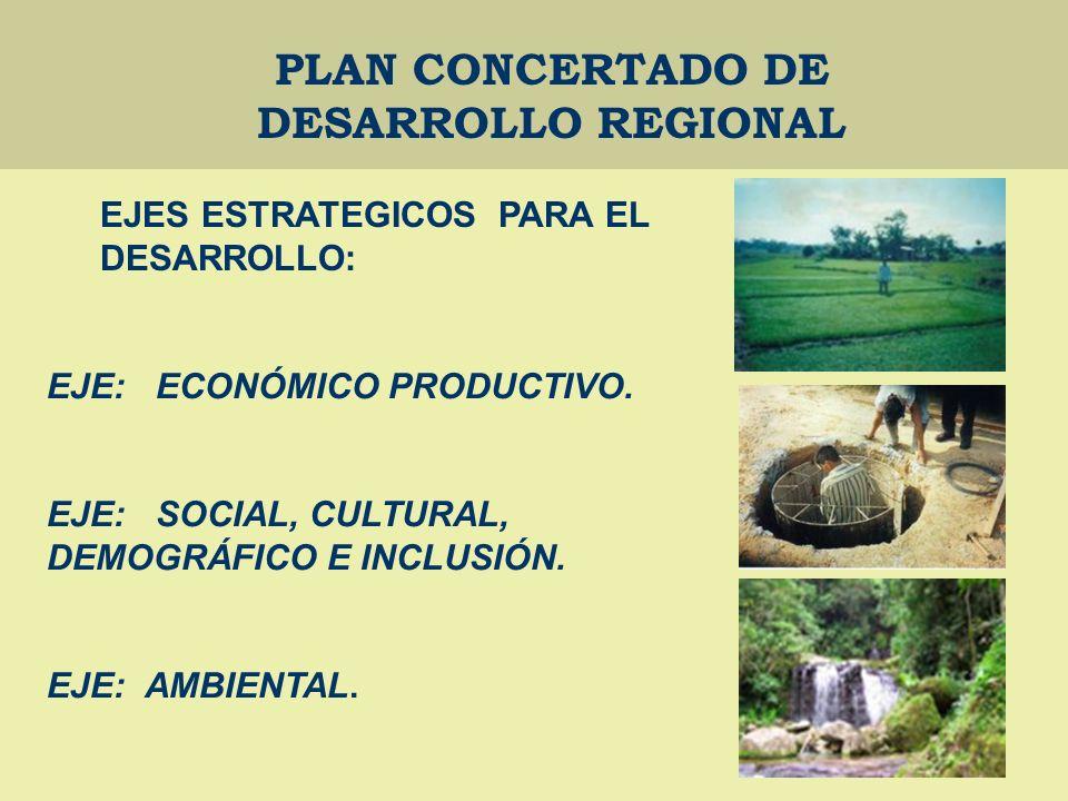 PLAN CONCERTADO DE DESARROLLO REGIONAL EJE: ECONÓMICO PRODUCTIVO.