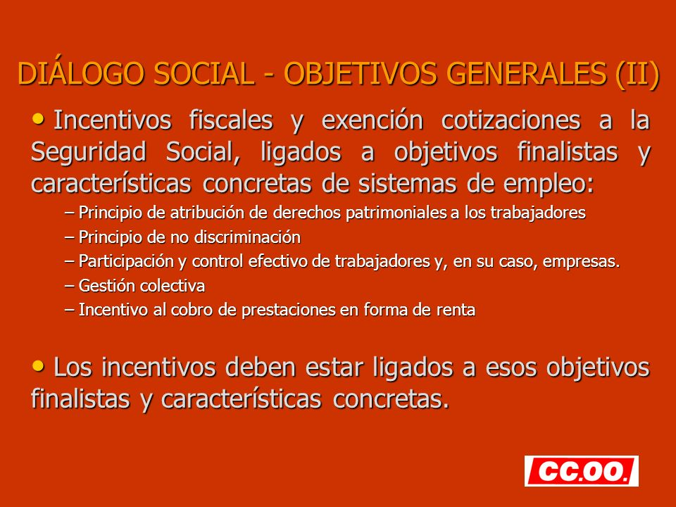 Diálogo Social – Planes de Empleo (VI) Criterios de valoración de activos.