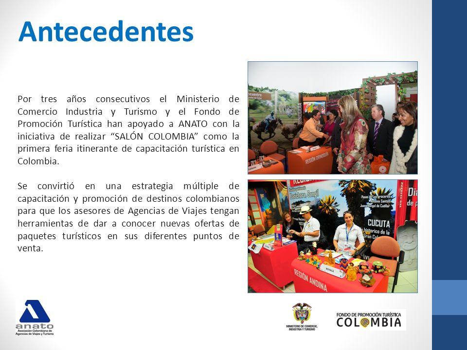 En la pasada versión se obtuvieron los siguientes resultados: Bogotá: 26 expositores, 750 asistentes, 26 capacitaciones Medellín: 20 expositores 643 asistentes, 22 capacitaciones Cali: 22 expositores, 269 asistentes, 22 capacitaciones Total Asistentes: 1.662 un crecimiento del 27% con respecto al año 2010 cuando tuvimos un total de 1.307 asistentes Total Expositores : 29 Entre los que estuvieron entidades territoriales de: Amazonas, Meta, Casanare, Vichada, Antioquia, Boyacá, Cundinamarca, Santander, Tolima, Quindío, Risaralda, Caldas, Cauca, Chocó, Nariño, San Andrés, Magdalena, Atlántico, Bolívar, Córdoba, La Guajira, Valle del Cauca y Sucre.