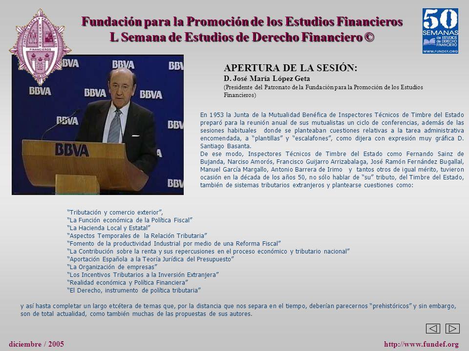 APERTURA DE LA SESIÓN: D.