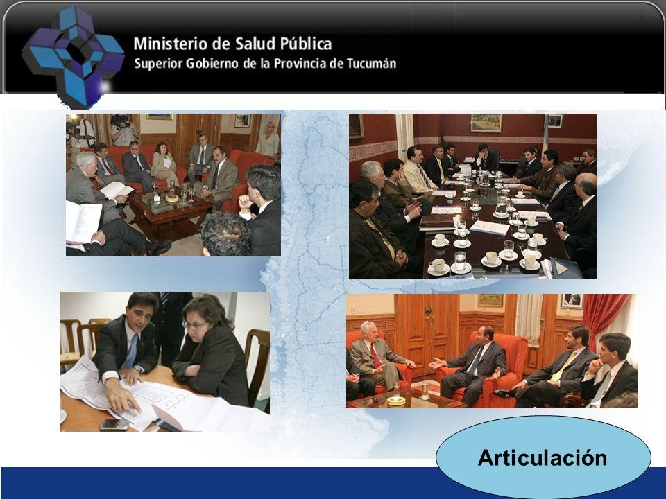 GOBIERNO DE TUCUMÁN MINISTERIO DE SALUD PÚBLICA Articulación