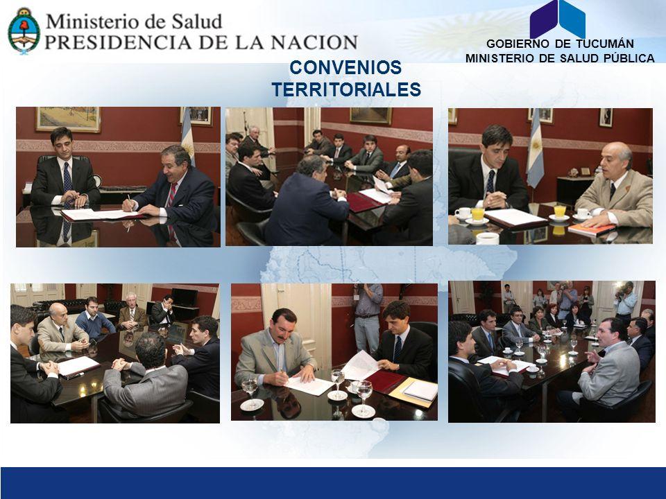 GOBIERNO DE TUCUMÁN MINISTERIO DE SALUD PÚBLICA CONVENIOS TERRITORIALES