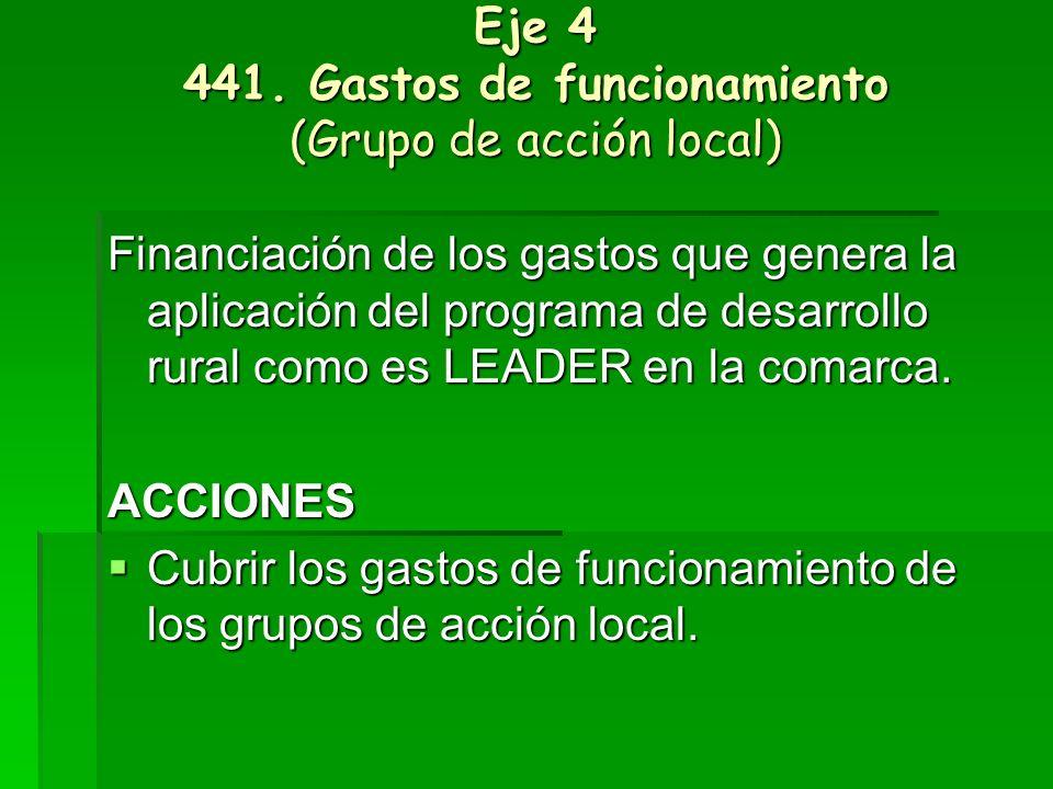 Eje 4 431.Cooperación (Grupo de acción local) OBJETIVOS Intercambio de conocimientos.
