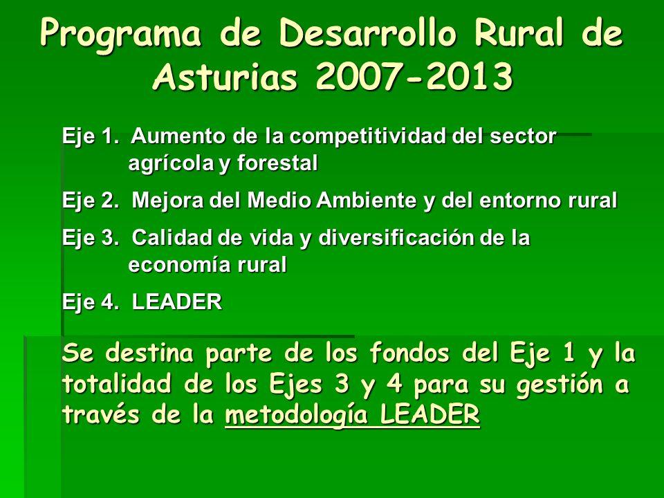 Programa de Desarrollo Rural de Asturias 2007-2013 Eje 1.