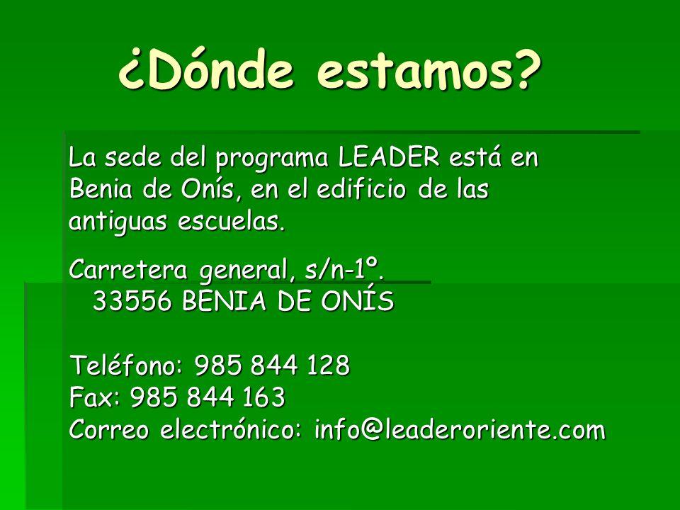 Oriente de deAsturias Programa LEADER 2007-2013