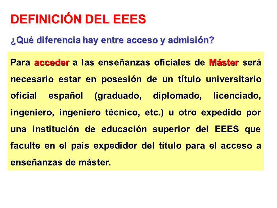 Para acceder a las enseñanzas oficiales de Máster será necesario estar en posesión de un título universitario oficial español (graduado, diplomado, li
