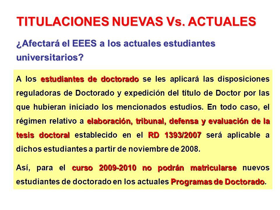 A los estudiantes de doctorado se les aplicará las disposiciones reguladoras de Doctorado y expedición del título de Doctor por las que hubieran inici