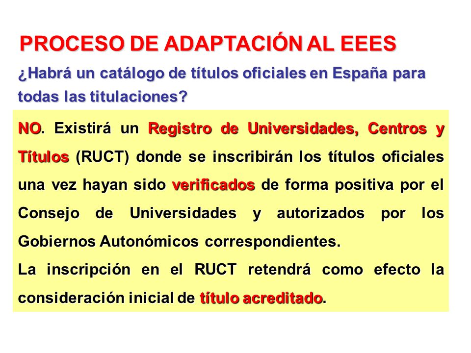 NO. Existirá un Registro de Universidades, Centros y Títulos (RUCT) donde se inscribirán los títulos oficiales una vez hayan sido verificados de forma