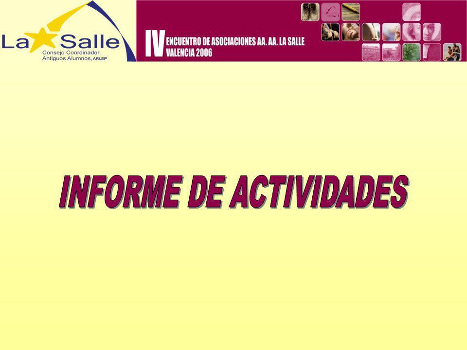 REUNIONES: Madrid, 24/9/2005 Madrid, 24/9/2005 Informe de última Junta Nacional de PROYDE: situación de proyectos, diesño nueva campaña sensibilización, campaña de socios.