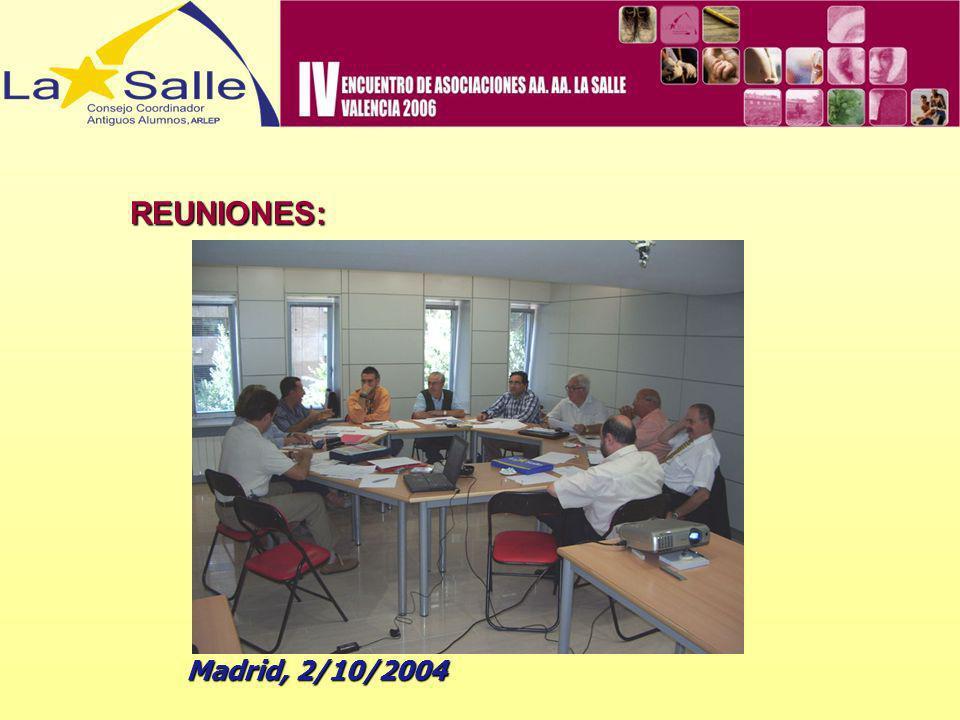 REUNIONES: Madrid y Griñón, 2-3/4/2005 Madrid y Griñón, 2-3/4/2005 Comentario positivo desarrollo 1ª Promoción CELAS No Docentes.