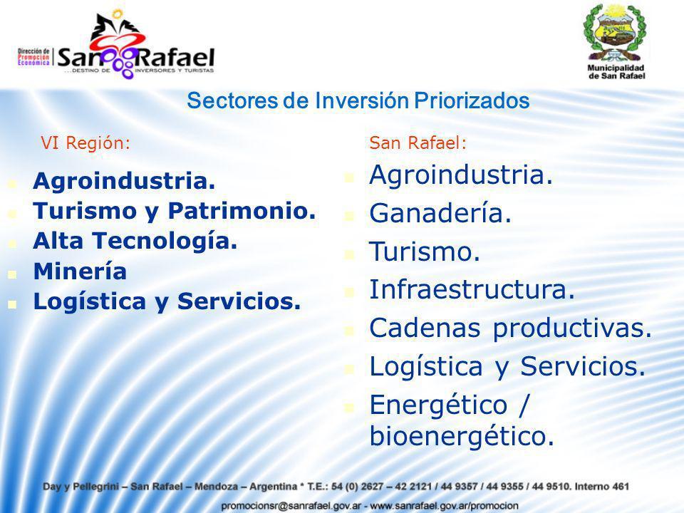 Agroindustria.Turismo y Patrimonio. Alta Tecnología.