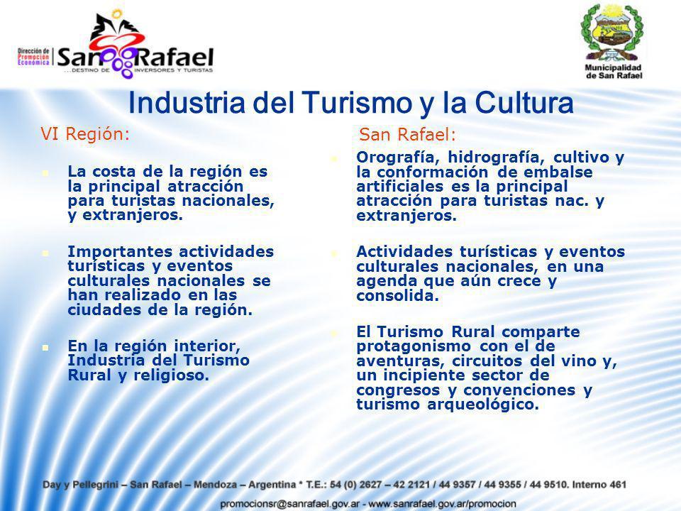 Industria del Turismo y la Cultura La costa de la región es la principal atracción para turistas nacionales, y extranjeros.