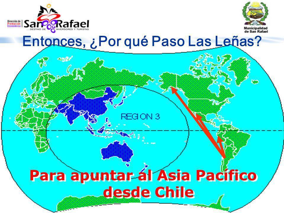 Entonces, ¿Por qué Paso Las Leñas? Para apuntar al Asia Pacífico desde Chile