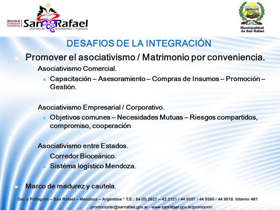 DESAFIOS DE LA INTEGRACIÓN Promover el asociativismo / Matrimonio por conveniencia.