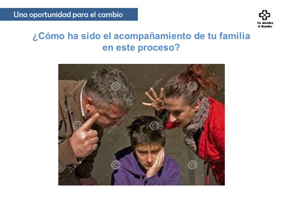 ¿Cómo ha sido el acompañamiento de tu familia en este proceso? Una oportunidad para el cambio