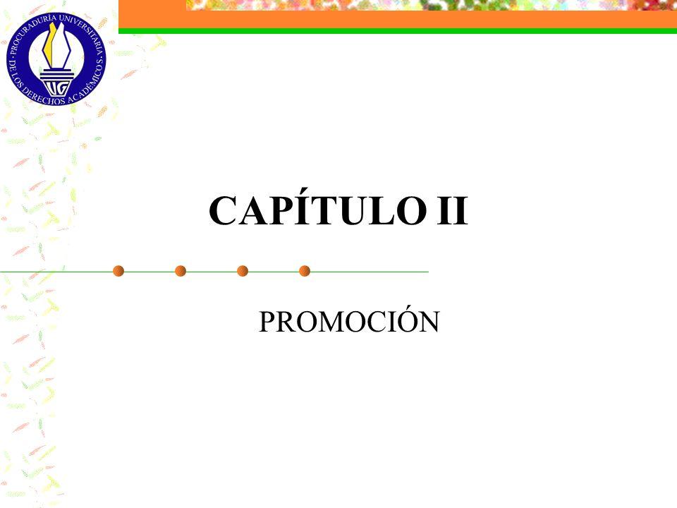 CAPÍTULO II PROMOCIÓN