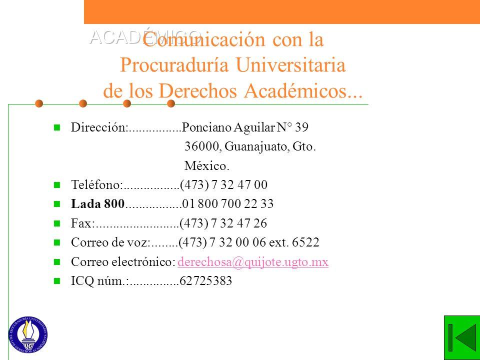 Dirección:................Ponciano Aguilar N° 39 36000, Guanajuato, Gto. México. Teléfono:.................(473) 7 32 47 00 Lada 800.................0