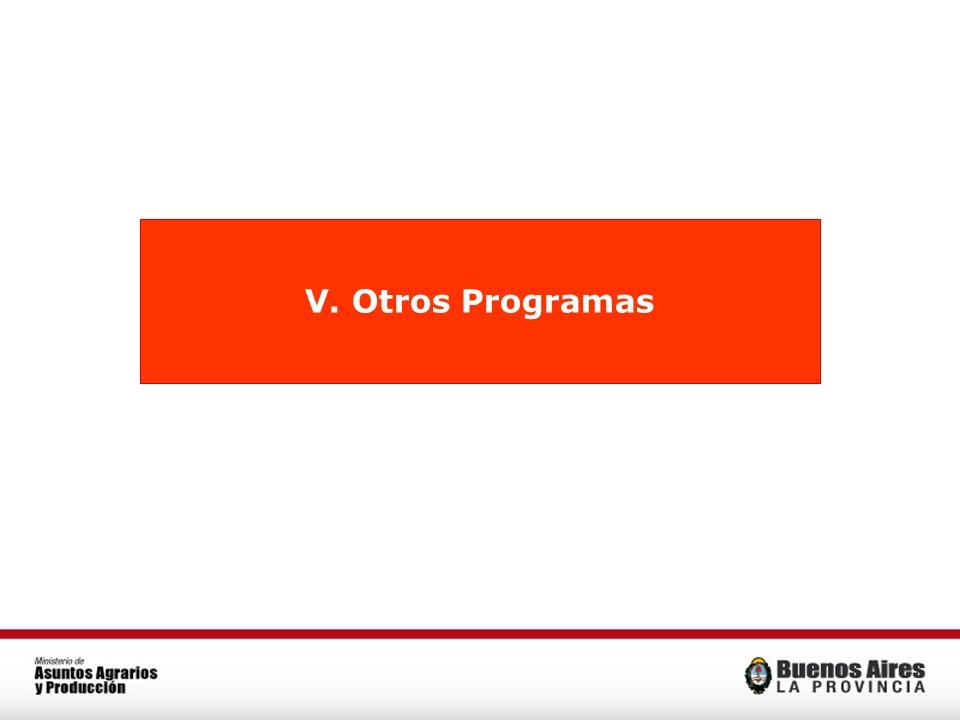 V. Otros Programas