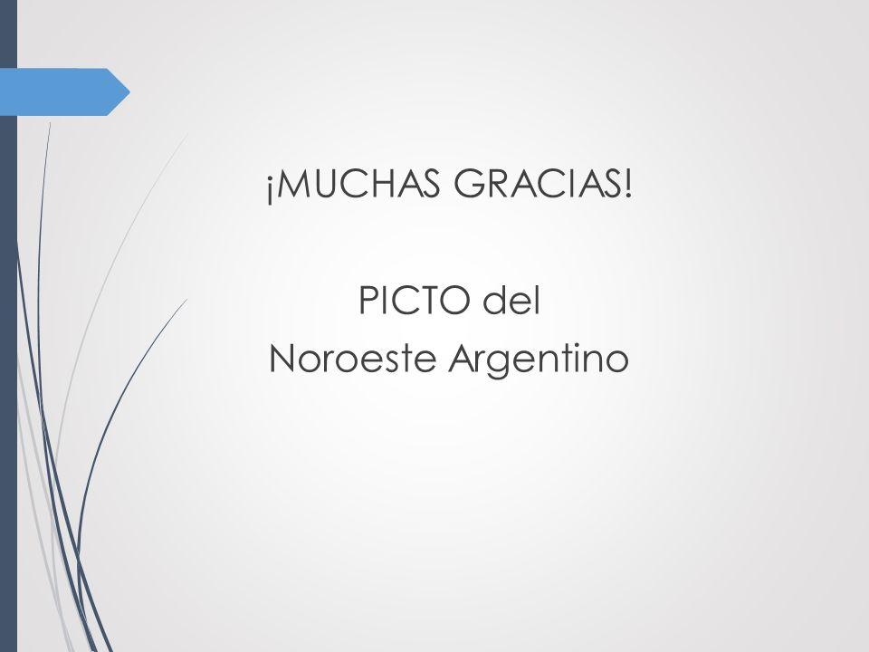 ¡MUCHAS GRACIAS! PICTO del Noroeste Argentino