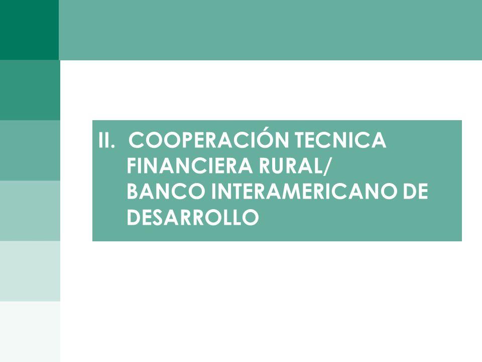 1010 II. COOPERACIÓN TECNICA FINANCIERA RURAL/ BANCO INTERAMERICANO DE DESARROLLO