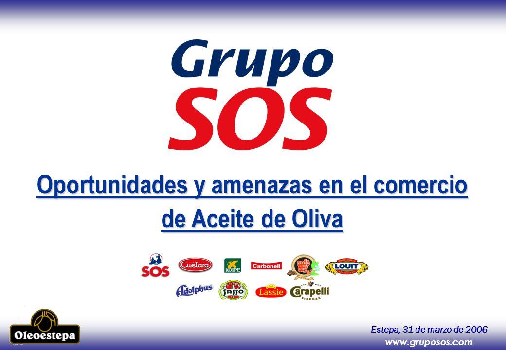 Oportunidades y amenazas en el comercio de Aceite de Oliva Estepa, 31 de marzo de 2006 www.gruposos.com