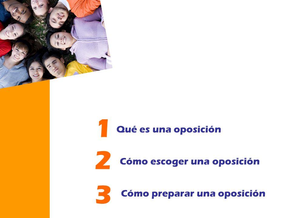 Qué es una oposición 1 Cómo escoger una oposición 2 Cómo preparar una oposición 3