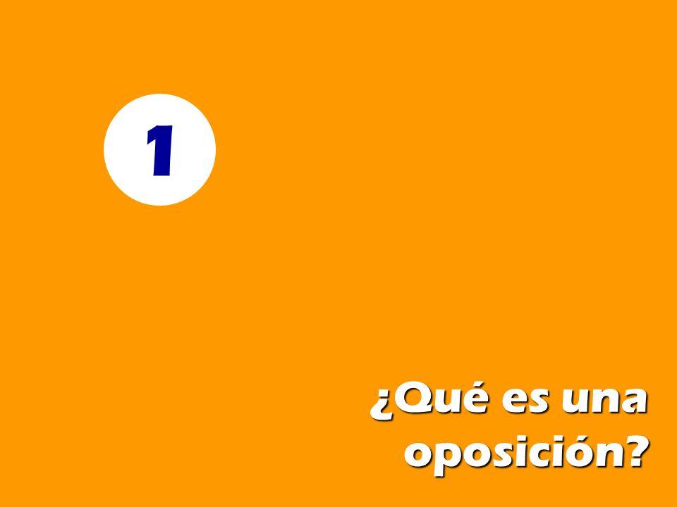 ¿Qué es una oposición? 1