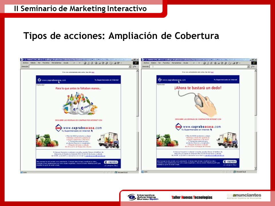 II Seminario de Marketing Interactivo Tipos de acciones: Ampliación de Cobertura