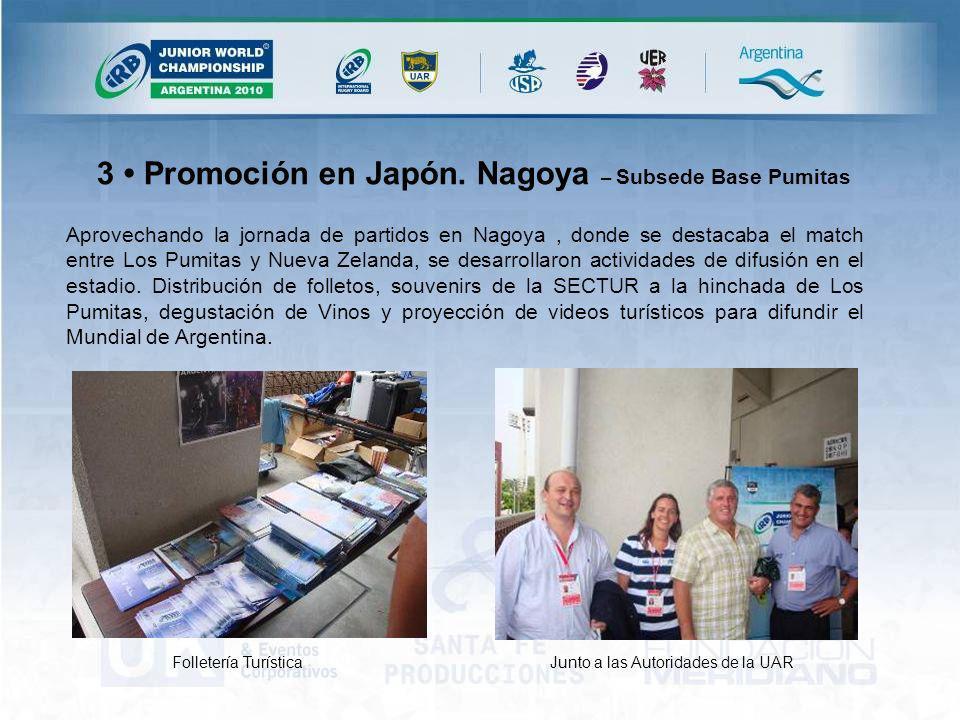 3 Promoción en Japón.