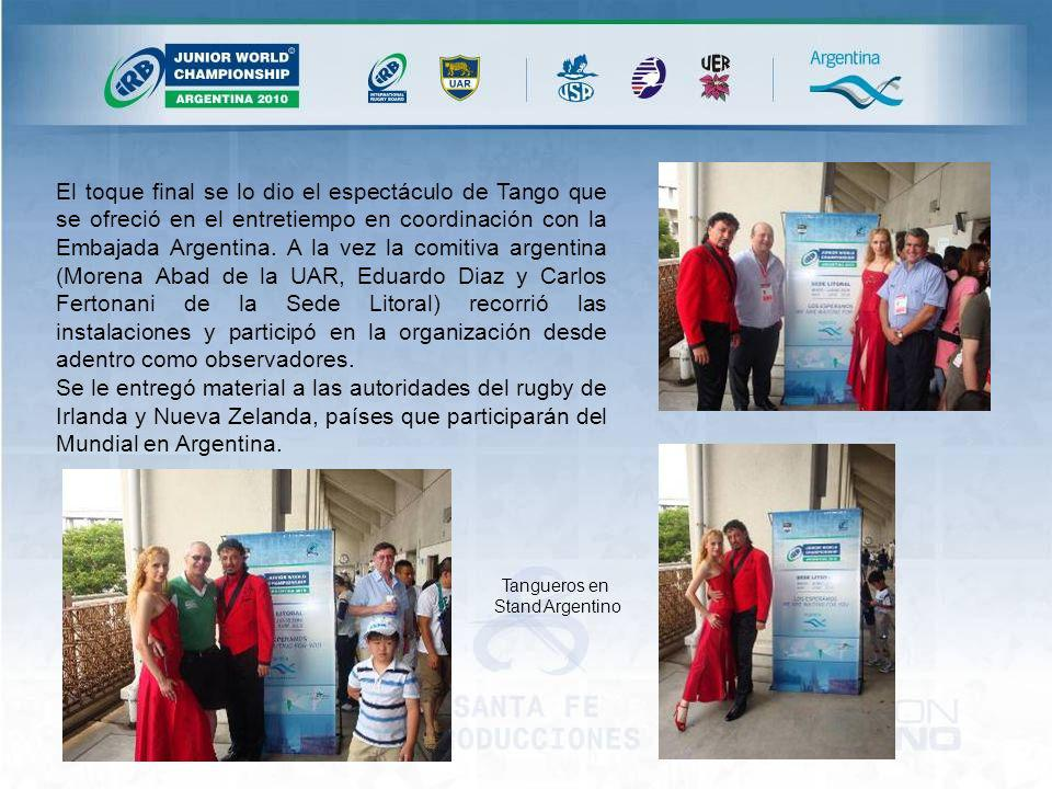 El toque final se lo dio el espectáculo de Tango que se ofreció en el entretiempo en coordinación con la Embajada Argentina.