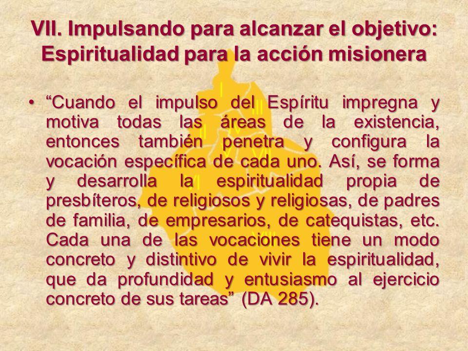 Cuando el impulso del Espíritu impregna y motiva todas las áreas de la existencia, entonces también penetra y configura la vocación específica de cada