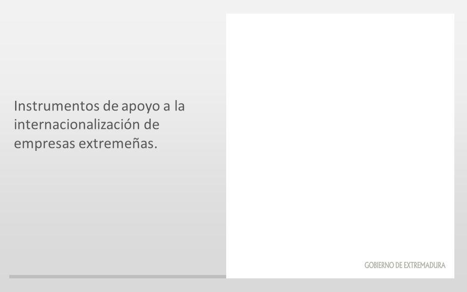 Instrumentos de apoyo a la internacionalización de empresas extremeñas.