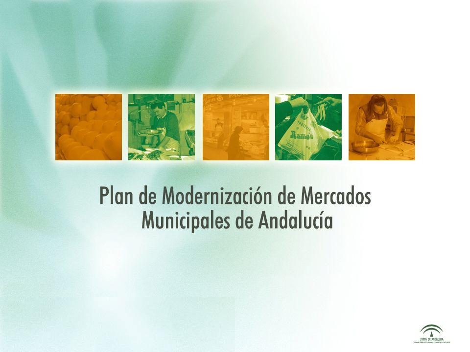 Plan de Modernización de Mercados Municipales de Andalucía Comerciantes de Mercados Municipales E s escasa la presencia de jóvenes en los mercados.