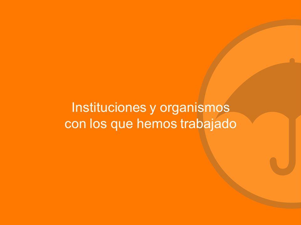 Instituciones y organismos con los que hemos trabajado