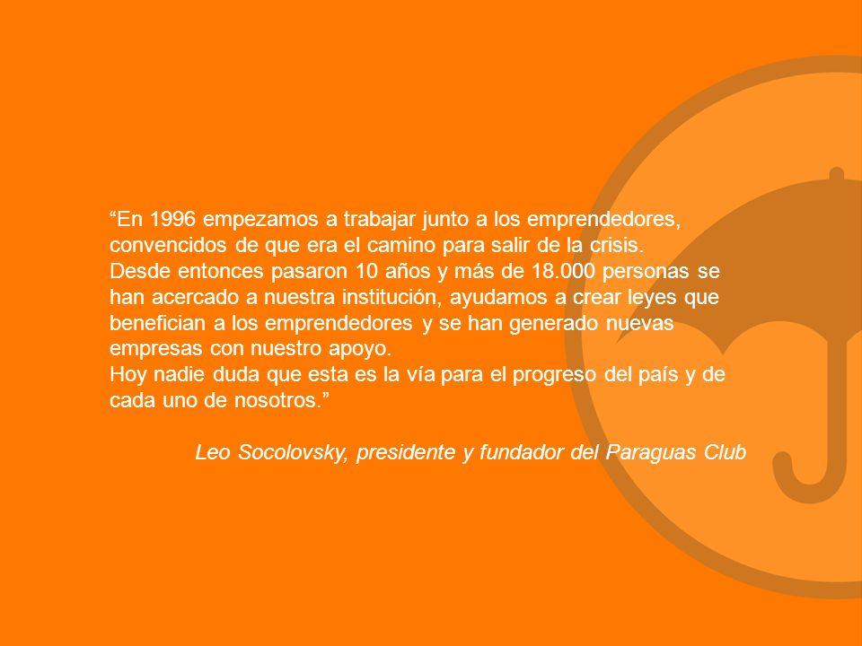 En 1996 empezamos a trabajar junto a los emprendedores, convencidos de que era el camino para salir de la crisis.