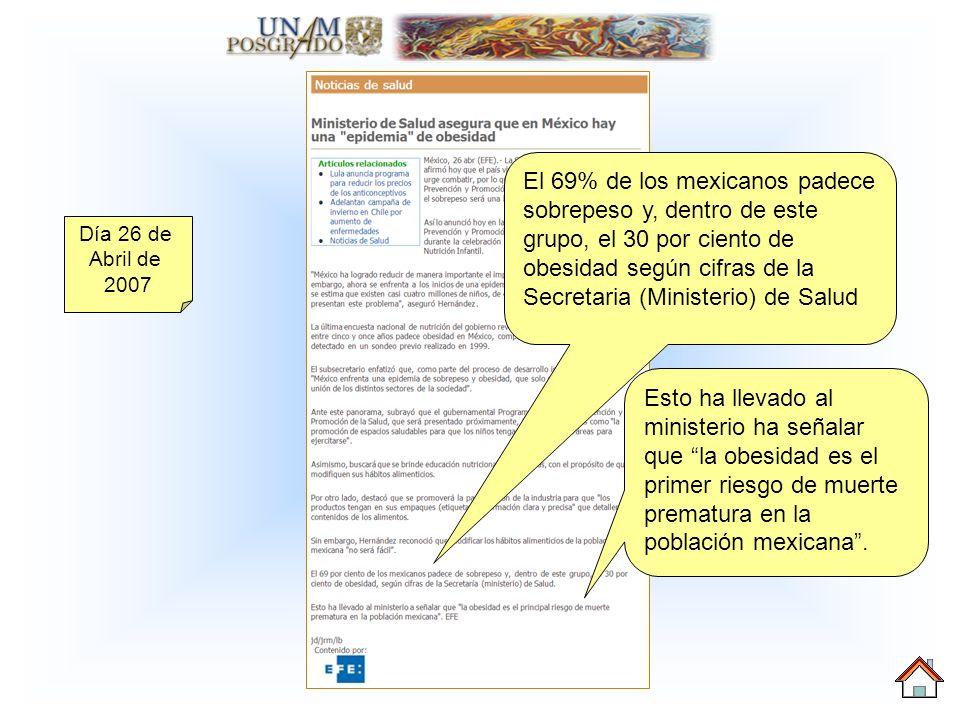 Día 26 de Abril de 2007 Sin embargo, Hernández reconoció que modificar los hábitos alimenticios de la población mexicana no será fácil Asimismo, buscara que se brinde educación nutricional a las familias, con el propósito de que modifiquen sus hábitos alimenticios.