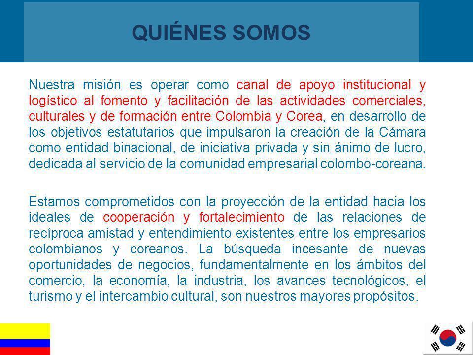 2 QUIÉNES SOMOS Nuestra misión es operar como canal de apoyo institucional y logístico al fomento y facilitación de las actividades comerciales, cultu