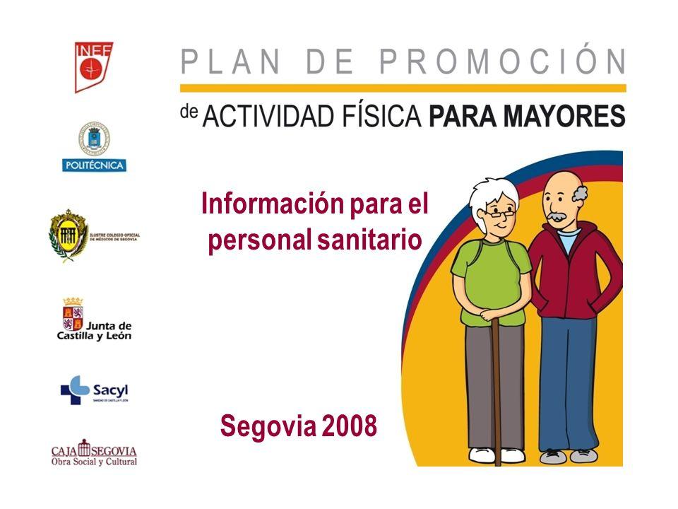 Información para el personal sanitario Segovia 2008
