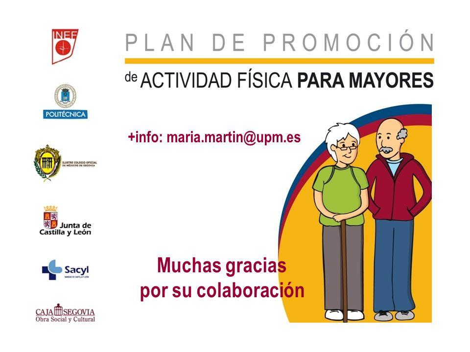 Muchas gracias por su colaboración +info: maria.martin@upm.es