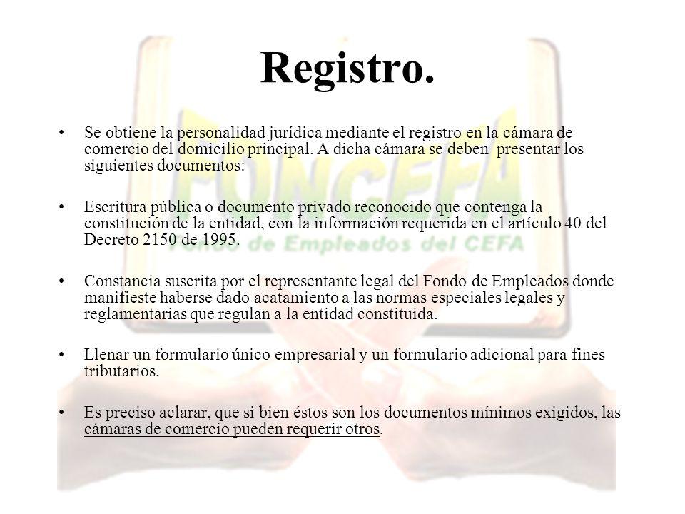 Registro. Se obtiene la personalidad jurídica mediante el registro en la cámara de comercio del domicilio principal. A dicha cámara se deben presentar