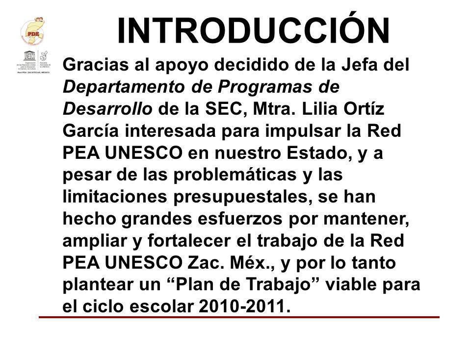 INTRODUCCIÓN Gracias al apoyo decidido de la Jefa del Departamento de Programas de Desarrollo de la SEC, Mtra. Lilia Ortíz García interesada para impu
