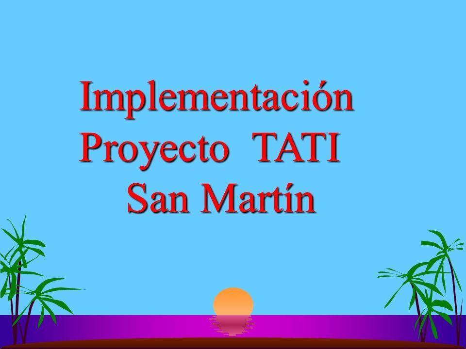 Implementación Proyecto TATI San Martín