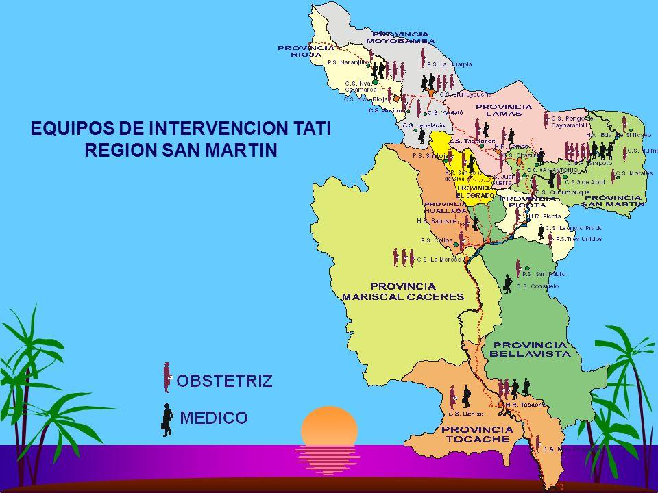 EQUIPOS DE INTERVENCION TATI REGION SAN MARTIN